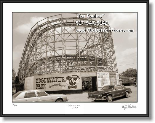 EDGEWATER AMUSEMENT PARK photo art print