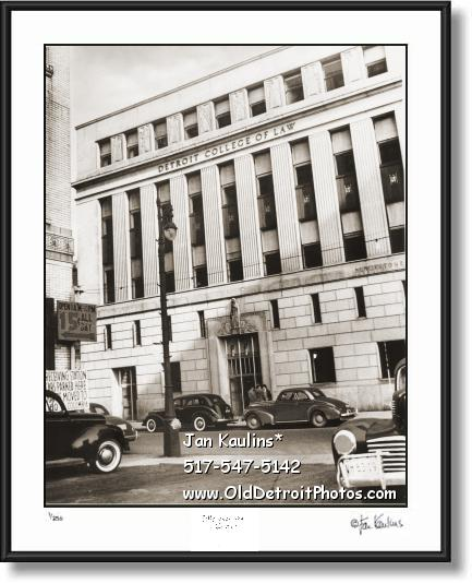 Click on this image to see an enlarged view of DETROIT COLLEGE OF LAW old photo picture print.