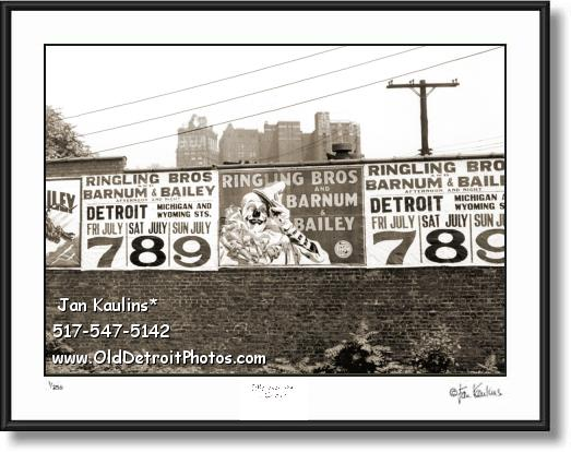Click on this image to see an enlarged view of BARNUM & BAILEY CIRCUS DETROIT photo print.