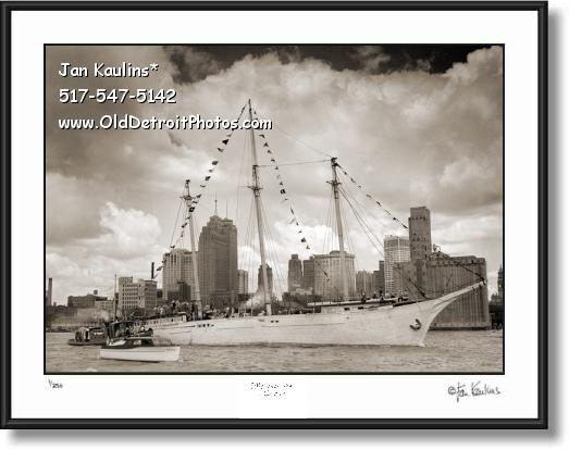 Click on this image to see an enlarged view of J T WING Schooner Detroit 1948 Dossin Museum.
