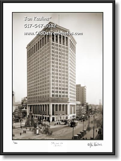 Click on this image to see an enlarged view of FIRST NATIONAL BUILDING Detroit 1921 photo.