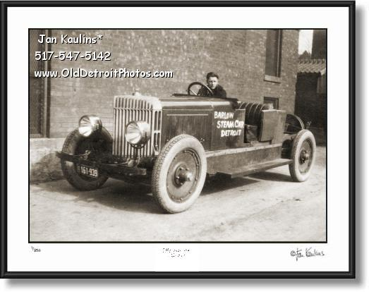 Click on this image to see an enlarged view of DETROIT BARLOW STEAM CAR 1921 photo print.
