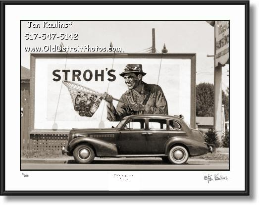 Click on this image to see an enlarged view of Old Stroh's Beer Ad Billboard 1939 photo print.