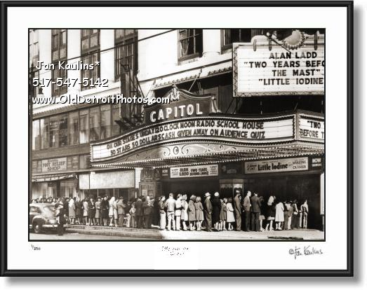 Click on this image to see an enlarged view of CAPITOL THEATER Detroit Capitol Theater photo.