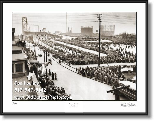 Click on this image to see an enlarged view of Ambassador Bridge 1929 Dedication photo print.