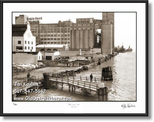 Click on this image to see an enlarged view of ROBIN HOOD FLOUR MILL Detroit photo art print.