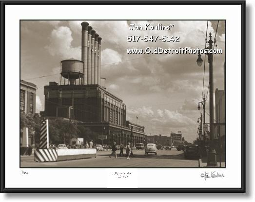 Click on this image to see an enlarged view of OLD HIGHLAND PARK FORD PLANT photo print.