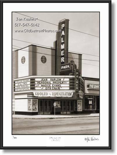 Click on this image to see an enlarged view of PALMER PARK THEATER photo picture art print.