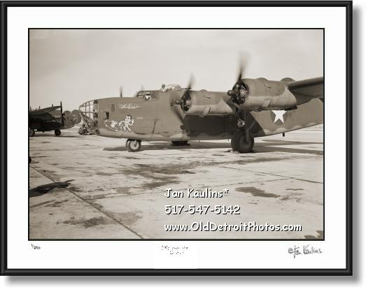 Click on this image to see an enlarged view of WILLOW RUN B-24 BOMBER photo picture print.