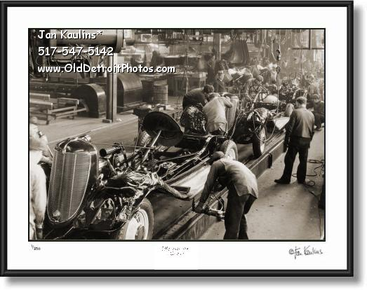 Click on this image to see an enlarged view of DeSoto Assembly Plant Detroit 1933 photo print.