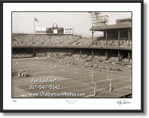 Click on this image to see an enlarged view of DETROIT LIONS BRIGGS STADIUM picture print.