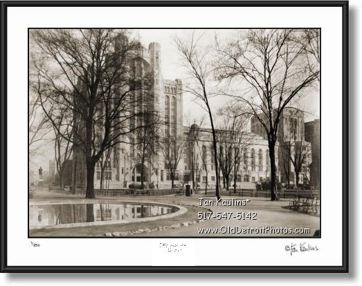 Detroit MASONIC TEMPLE photo picture print 1937