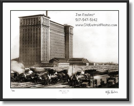 Click on this image to see an enlarged view of OLD MICHIGAN CENTRAL STATION photo print.