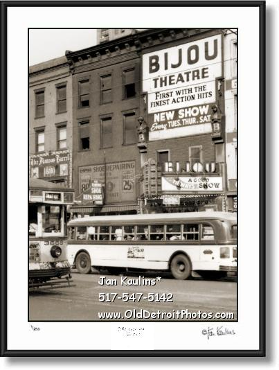 Click on this image to see an enlarged view of BIJOU THEATER DETROIT photo picture print.