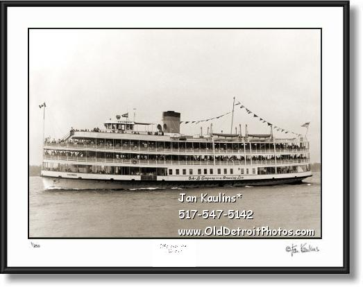 Click on this image to see an enlarged view of BOB LO BOAT COLUMBIA photo picture art print.