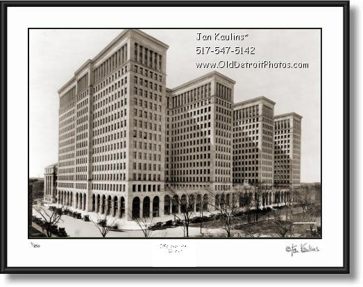 Click on this image to see an enlarged view of OLD GENERAL MOTORS BUILDING 1921 photo print.