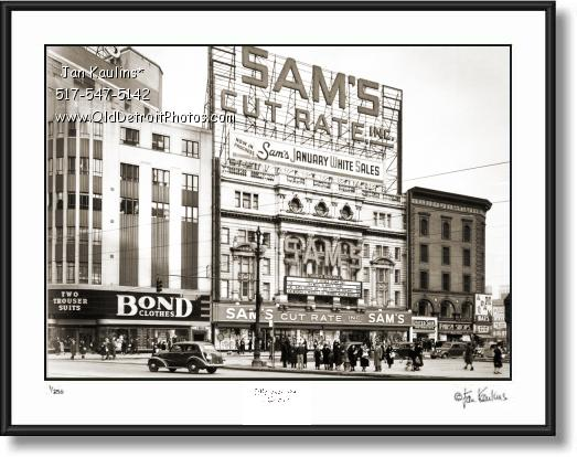 Click on this image to see an enlarged view of SAM'S CUT RATE DETROIT 1940 photo.