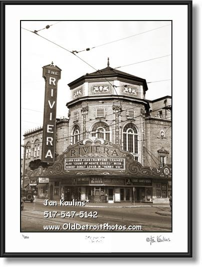 GRAND RIVIERA THEATER DETROIT photo print