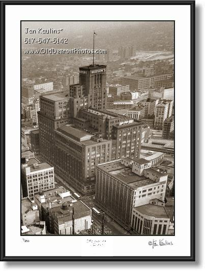 Click on this image to see an enlarged view of J L HUDSONS Detroit photo picture print.