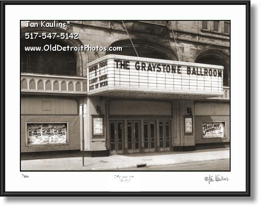 Click on this image to see an enlarged view of GRAYSTONE BALLROOM Detroit photo print.