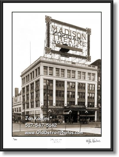 Click on this image to see an enlarged view of MADISON THEATER DETROIT photo print photo.