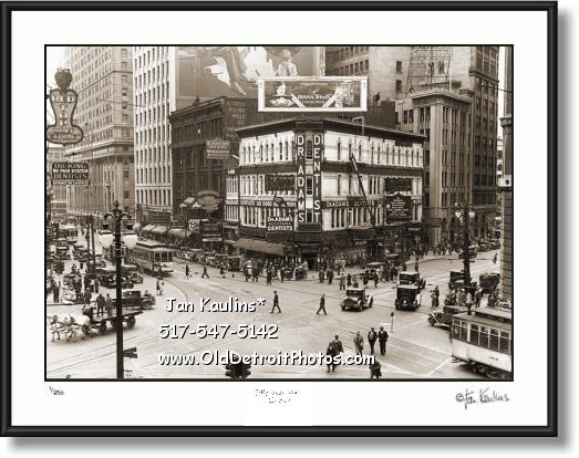Click on this image to see an enlarged view of Old Detroit Michigan Ave. & Griswold 1932 photo.