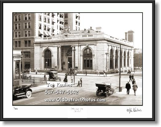 Click on this image to see an enlarged view of PEOPLES STATE BANK Detroit 1912 photo print.