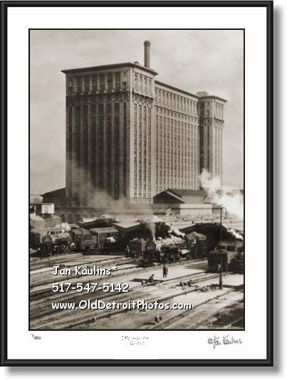 Click on this image to see an enlarged view of MICHIGAN CENTRAL DEPOT Detroit photo print.