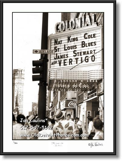 Click on this image to see an enlarged view of COLONIAL MOVIE THEATER DETROIT photo print.
