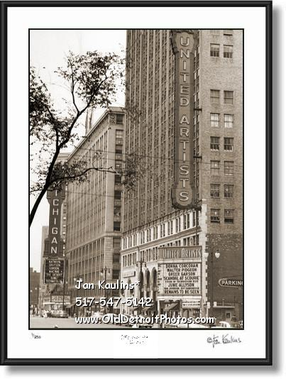 Click on this image to see an enlarged view of United Artists Theater Michigan Theater photo.