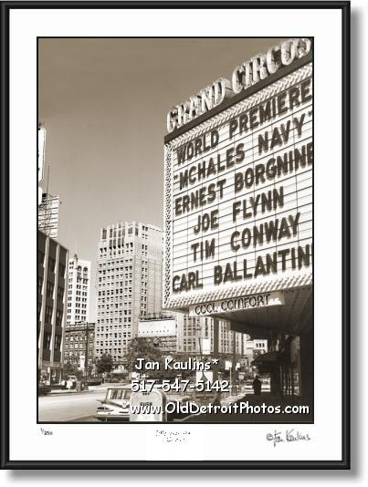 Click on this image to see an enlarged view of OLD GRAND CIRCUS THEATER Detroit photo print.