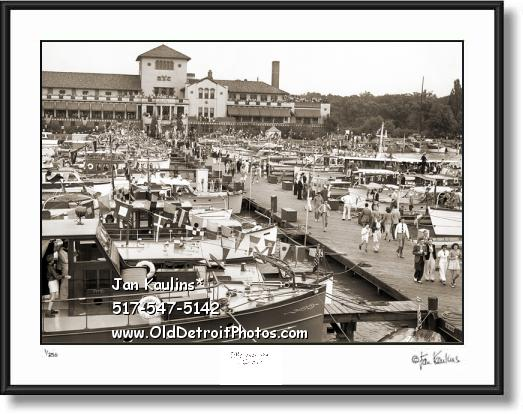 Click on this image to see an enlarged view of DETROIT YACHT CLUB DYC VINTAGE photo print.