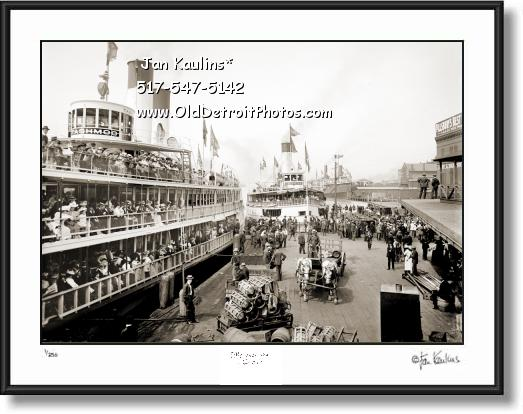 Click on this image to see an enlarged view of TASHMOO Detroit Excursion Steamer photo print.