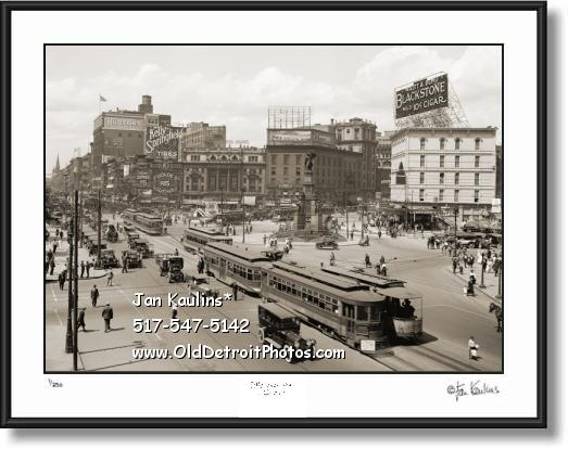 OLD WOODWARD AVENUE DETROIT photo print