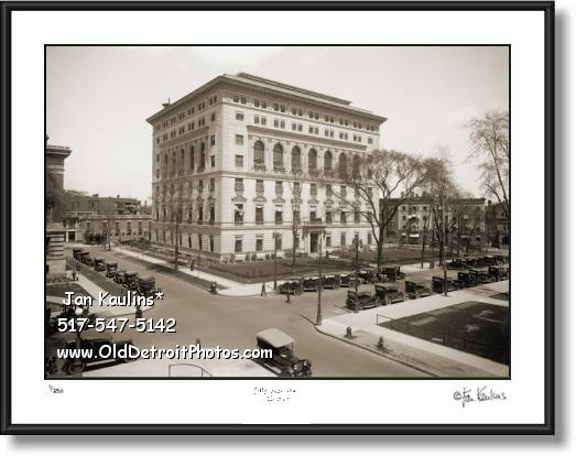 Click on this image to see an enlarged view of DETROIT ATHLETIC CLUB old photo print picture.