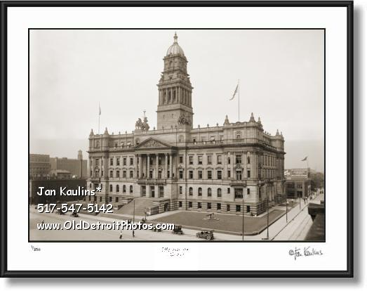 WAYNE COUNTY BUILDING old Detroit photo