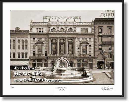 Click on this image to see an enlarged view of OLD DETROIT OPERA HOUSE photo picture print.
