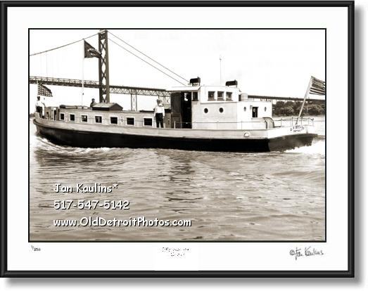 Click on this image to see an enlarged view of Detroit Mailboat G F BECKER 1932 Mailboat photo .