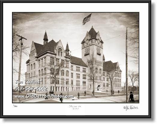 Click on this image to see an enlarged view of OLD MAIN Central High School Detroit photo print.