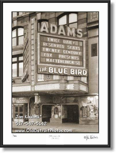 Click on this image to see an enlarged view of Vintage ADAMS THEATER 1940 Detroit photo print.