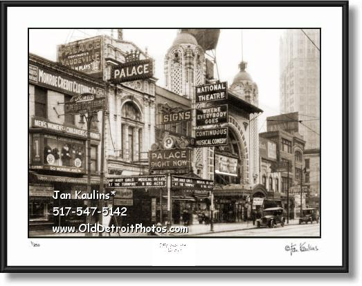 Click on this image to see an enlarged view of MONROE ST DETROIT THEATER DISTRICT photo.
