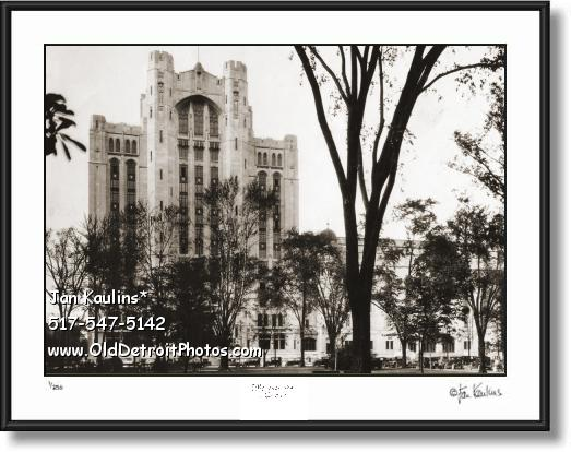 Click on this image to see an enlarged view of MASONIC TEMPLE Detroit 1928 photo picture print.