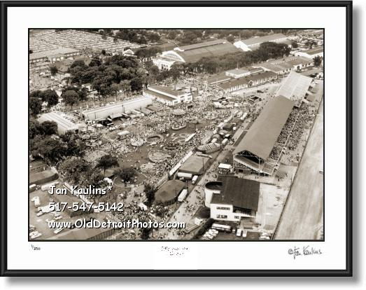 Click on this image to see an enlarged view of Michigan State Fairgrounds photo picture print.