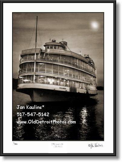 Click on this image to see an enlarged view of BOB-LO Boat Moonlight Cruise photo print picture.
