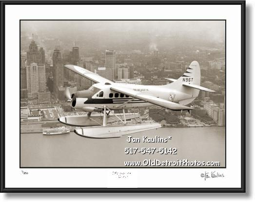 Click on this image to see an enlarged view of AERIAL DETROIT SEAPLANE 1956 photo print.