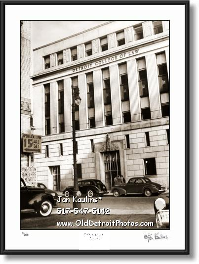Click on this image to see an enlarged view of DETROIT COLLEGE OF LAW DCL old photo print.