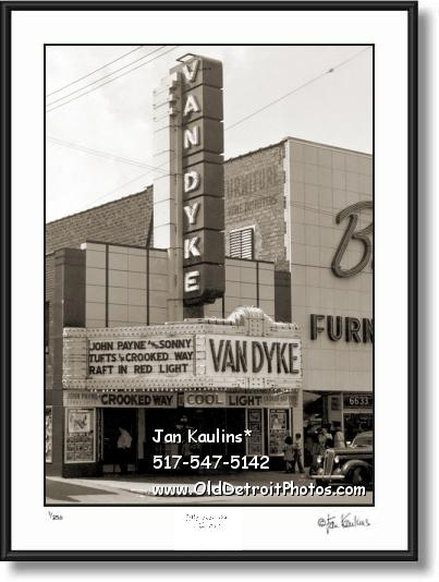 Click on this image to see an enlarged view of VAN DYKE Detroit Vintage Movie Theater photo.