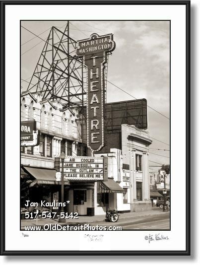 Click on this image to see an enlarged view of Hamtramck Theater MARTHA WASHINGTON photo.