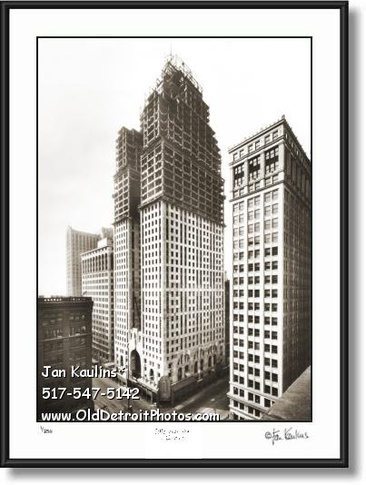 Click on this image to see an enlarged view of PENOBSCOT BUILDING 1928 Construction photo.