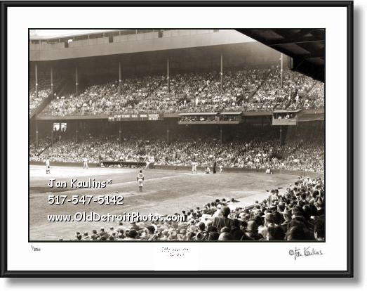 Click on this image to see an enlarged view of BRIGGS STADIUM Interior 1950 Briggs photo print.
